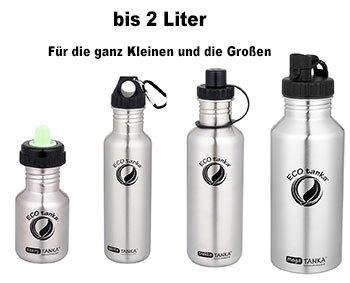edelstahl trinkflaschen bpa frei kaufen aquaspender wasserspender trinkflaschen kohlens ure. Black Bedroom Furniture Sets. Home Design Ideas